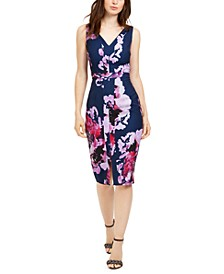 Rei Floral-Print Paneled Sheath Dress