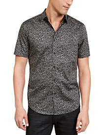 INC Men's Condensed Animal Print Shirt, Created For Macy's