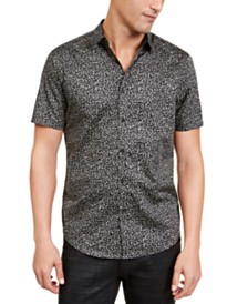 I.N.C. Men's Condensed Animal Print Shirt, Created For Macy's