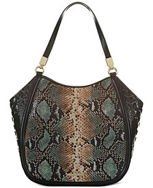Marianna Patchouli Embossed Leather Tote