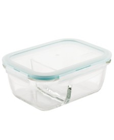 Lock n Lock Purely Better™ Glass 25-Oz. Divided Rectangular Food Storage Container