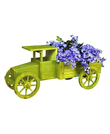 Gardenised Old Style Wooden Car Garden Planter