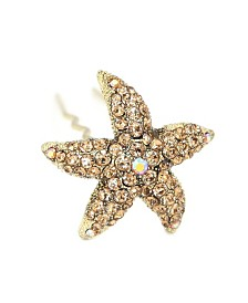 Soho Style Crystal Starfish Hair Stick