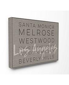 LA Santa Monica Beverly Hills Typography Art Collection