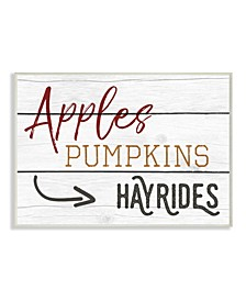 Apples Pumpkins Hayrides Vintage-Inspired Sign Wall Art Collection
