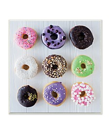Colorful Donut Grid Wall Art Collection