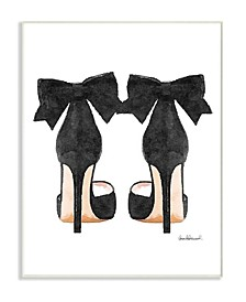 """Glam Pumps Heels with Black Bow Wall Plaque Art, 10"""" x 15"""""""