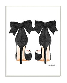 """Stupell Industries Glam Pumps Heels with Black Bow Wall Plaque Art, 10"""" x 15"""""""