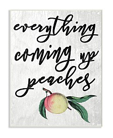"""Stupell Industries Georgia Coming Up Peaches Icon Wall Plaque Art, 12.5"""" x 18.5"""""""