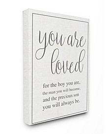 """You Are Loved Canvas Wall Art, 16"""" x 20"""""""
