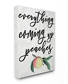 """Stupell Industries Georgia Coming Up Peaches Icon Canvas Wall Art, 16"""" x 20"""""""