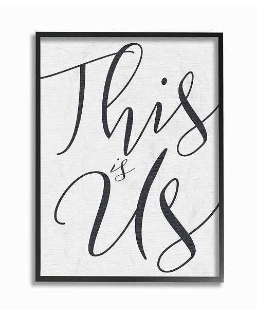 """Stupell Industries This is Us Typography Framed Giclee Art, 16"""" x 20"""""""