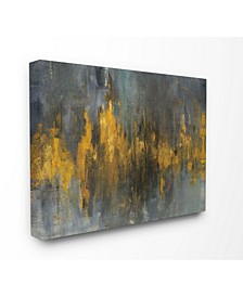 "Black and Gold Abstract Fire Canvas Wall Art, 30"" x 40"""
