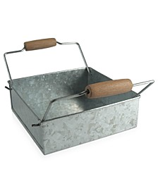 Masonware Galvanized Tin Napkin Holder