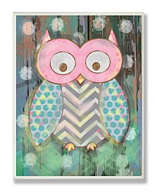 """Stupell Industries The Kids Room Distressed Woodland Owl Wall Plaque Art, 12.5"""" x 18.5"""""""