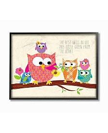 """Stupell Industries Home Decor The Best Gifts In Life Are Those Given From The Heart Owls Framed Giclee Art, 11"""" x 14"""""""