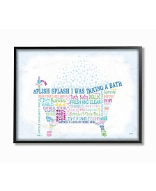 "Stupell Industries Home Decor Splish Splash Typography Bathroom Framed Giclee Art, 11"" x 14"""