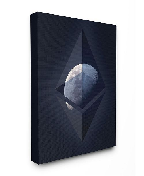 "Stupell Industries Ethereum on the Moon Canvas Wall Art, 16"" x 20"""