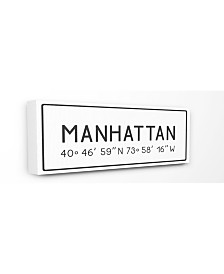 "Stupell Industries Plate City Coordinates Manhattan Canvas Wall Art, 10"" x 24"""