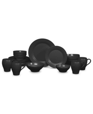 Mikasa Dinnerware, Swirl Black 20-Piece Set