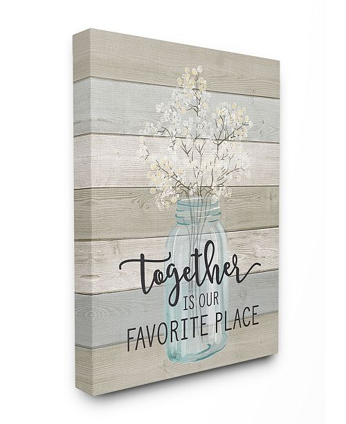 """Stupell Industries Together is Our Favorite Place Canvas Wall Art, 30"""" x 40"""""""