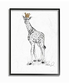 Giraffe Royalty Graphite Drawing Wall Art Collection