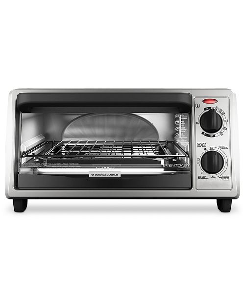 Black & Decker TO1322SBD Toaster Oven, 4-Slice EvenToast Technology