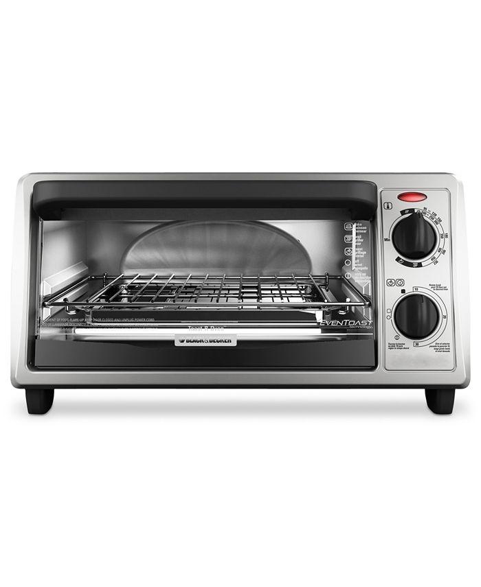 Black & Decker - TO1322SBD Toaster Oven, 4-Slice EvenToast Technology