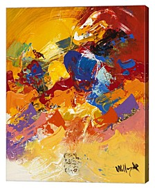 "Abstract Red and Yellow 4 by William Malucu Canvas Art, 28"" x 36"""