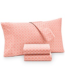 Printed Geo Queen 4-pc Sheet Set, 500 Thread Count, Created for Macy's