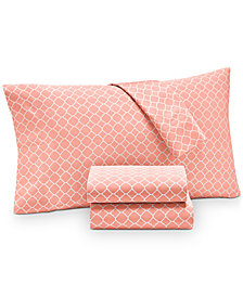 Charter Club Damask Designs Printed Geo California King 4-pc Sheet Set, 500 Thread Count, Created for Macy's