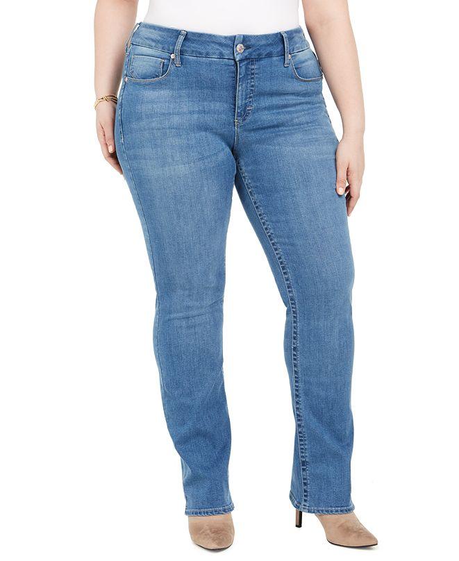 Seven7 Jeans Seven7 Plus Size Tummyless Slim Bootcut Jeans