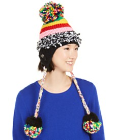 Betsey Johnson Xtra-Haute Patchwork Earflop Hat