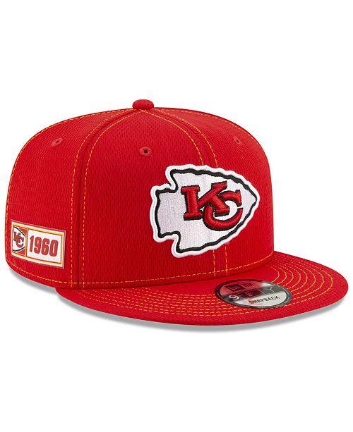 39335e60 Kansas City Chiefs On-Field Sideline Road 9FIFTY Cap