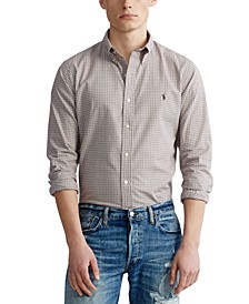 Men's Big & Tall Classic Fit Plaid Twill Shirt