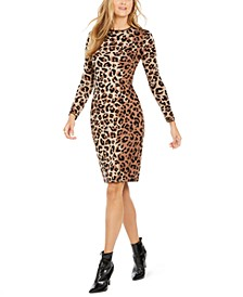 Animal-Print Sweater Dress