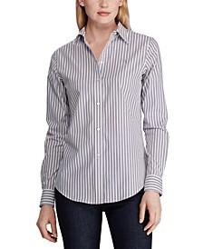 Stripe-Print No-Iron Button-Down Shirt
