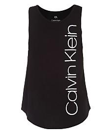 Calvin Klein Performance Big Girls Layered-Look Logo-Print Tank Top