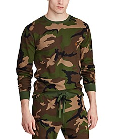 Men's Camo Waffle-Knit Thermal Pajama Shirt