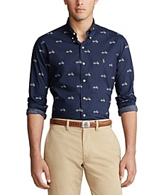 Men's Motorcycle Print Poplin Shirt
