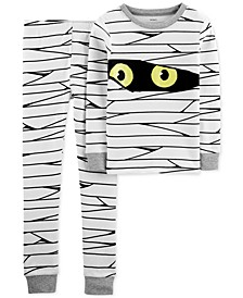 Little & Big Boys 2-Pc. Cotton Glow-In-The-Dark Mummy Pajama Set