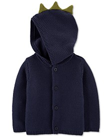 Carter's Baby Boys Cotton Hooded Dinosaur Cardigan