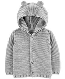 Baby Boys & Girls Cotton Hooded Cardigan