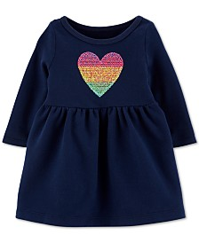 Carter's Baby Girls Cotton Sequined Heart Dress