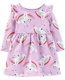 Carter's Baby Girls Cotton Rainbow Unicorn Dress