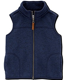 Baby Boys Fleece-Lined Zip-Up Sweater Vest
