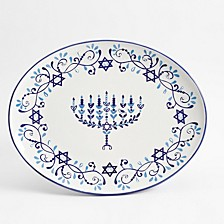 Judaica Oval Serving Platter