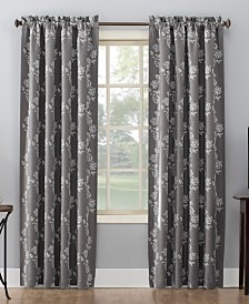 Sun Zero Lilith Embroidered Floral Blackout Curtain Collection