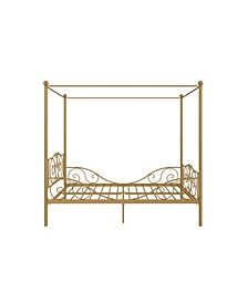 Whimsical Metal Canopy Bed, Full Size