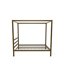Cara Metal Canopy Bed, Full Size